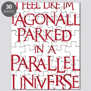 red, Diagonally Parked Puzzle
