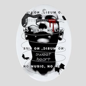 NoMusicNoLife Oval Ornament
