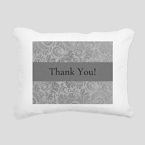 thank you note cards dam Rectangular Canvas Pillow