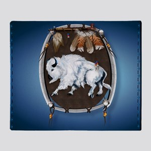 Mouse Pad White Buffalo Shield -brlu Throw Blanket