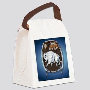 Mouse Pad White Buffalo Shield -b Canvas Lunch Bag