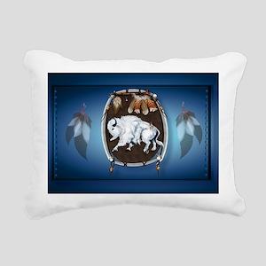 sticker White Buffalo Sh Rectangular Canvas Pillow