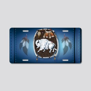sticker White Buffalo Shiel Aluminum License Plate