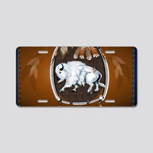 Yard Sign Whie Buffalo Shei Aluminum License Plate