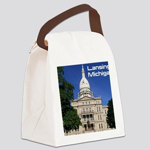 Lansing MI Cover Canvas Lunch Bag