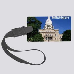 Lansing MI Cover Large Luggage Tag