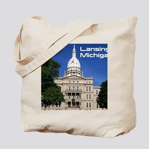 Lansing MI Cover Tote Bag