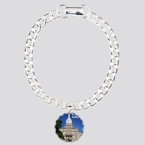 Lansing MI Cover Charm Bracelet, One Charm