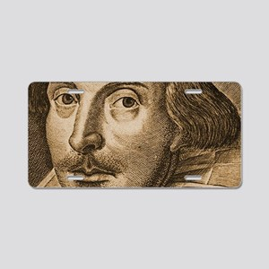 Shakespeare1-bag Aluminum License Plate