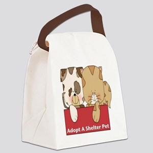 adopt a shelter pet-001 Canvas Lunch Bag