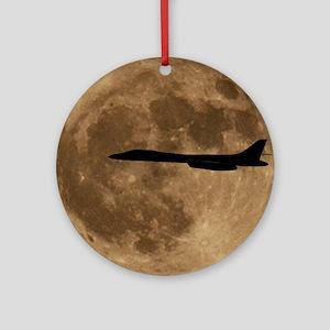 (1) B-1B Moon Flight Round Ornament