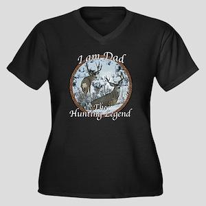 Dad hunting  Women's Plus Size Dark V-Neck T-Shirt