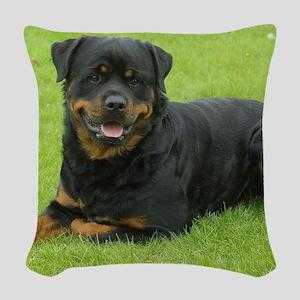 Rottweiler 9W025D-046 Woven Throw Pillow