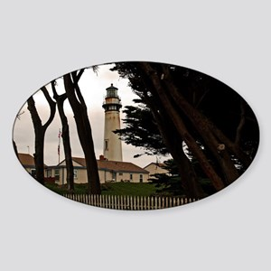 (4) Pigeon Point Fence Sticker (Oval)