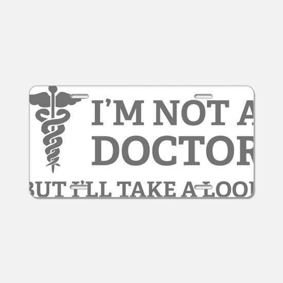 doctorLook1C Aluminum License Plate