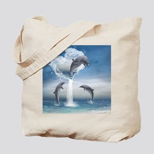 dolphins_16_pillow Tote Bag