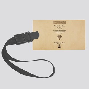 Quarto-Much-Ado-About-Nothing Large Luggage Tag