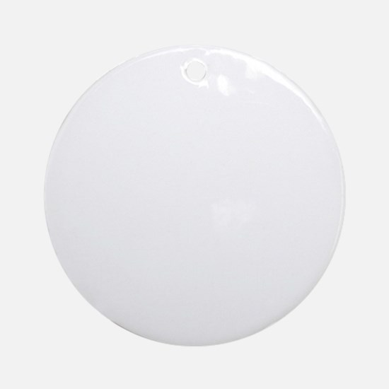 if you cant beat them.white Round Ornament