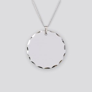 if you cant beat them.white Necklace Circle Charm