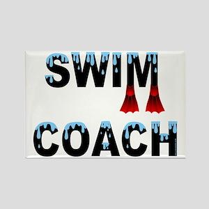 Swim Coach Rectangle Magnet
