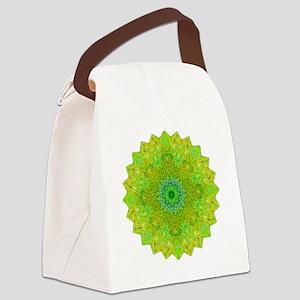 Green Yellow Earth Mandala Shirt Canvas Lunch Bag