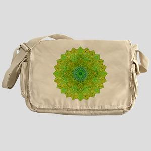 Green Yellow Earth Mandala Shirt Messenger Bag