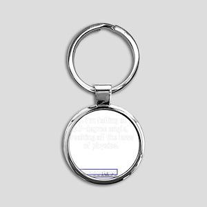 60degree Round Keychain