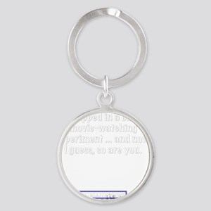 trapped Round Keychain
