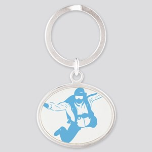 skydiving1C Oval Keychain