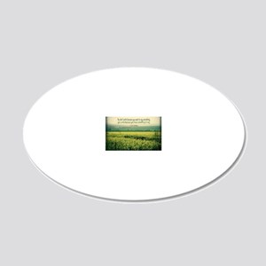 Write To Say Quote on Large  20x12 Oval Wall Decal