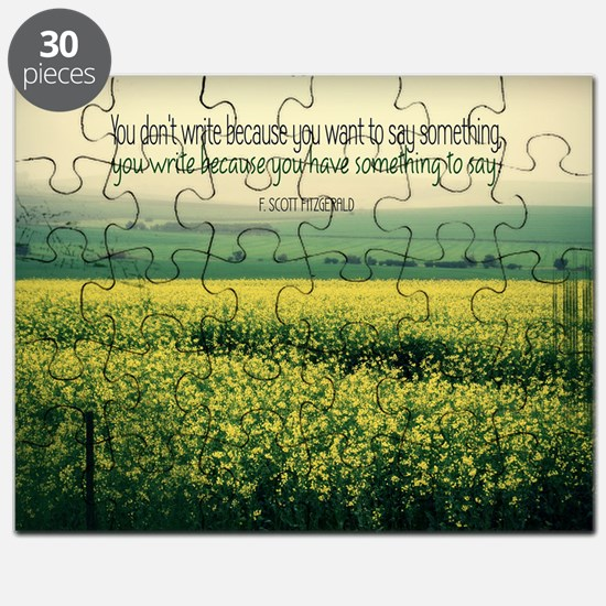 Write To Say Quote on Large Framed Print Puzzle