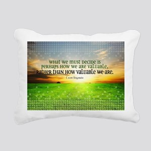 Valuable and Decide Quot Rectangular Canvas Pillow