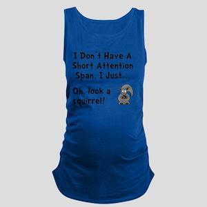 Short Attention Black Maternity Tank Top