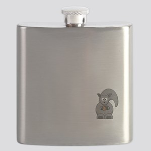 Short Attention White Flask
