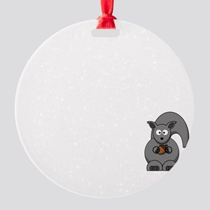 Short Attention White Round Ornament