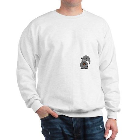 Short Attention White Sweatshirt