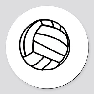 Winners Train Volleyball White Round Car Magnet
