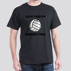 Winners Train Volleyball Black Dark T-Shirt