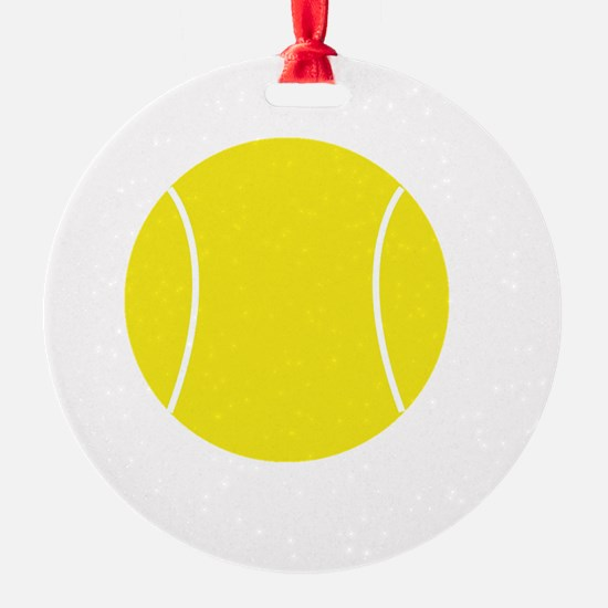 Winners Train Tennis White Ornament