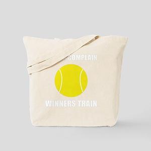 Winners Train Tennis White Tote Bag