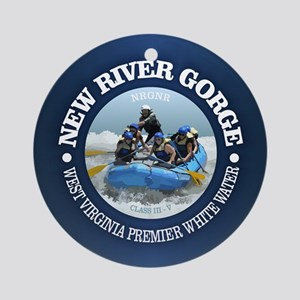 New River Gorge (rafting) Round Ornament