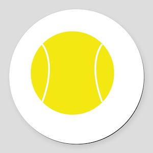 Winners Train Tennis White Round Car Magnet