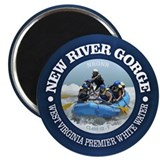 West virginia rafting Round Magnets