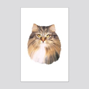 Maine Coon Oil Painting Mini Poster Print