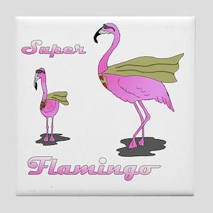 Super Flamingo01 Tile Coaster