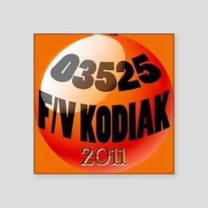 """bouy_orn2011 Square Sticker 3"""" x 3"""""""