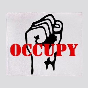 Occupy-hat2 Throw Blanket