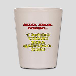 Salud Amor Dinero Glass Shot Glass