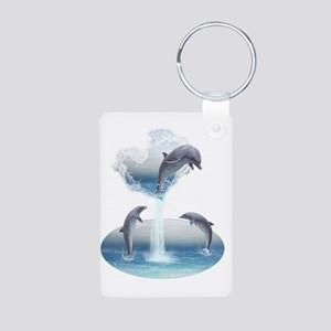 The Heart Of The Dolphins Aluminum Photo Keychain