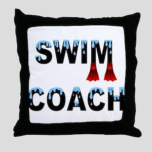 Swim Coach Throw Pillow